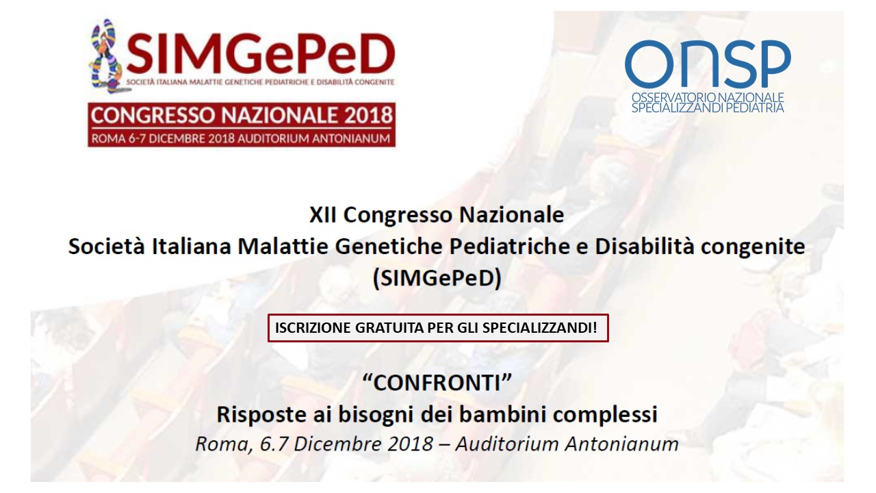 XII Congresso nazionale SIMGePeD