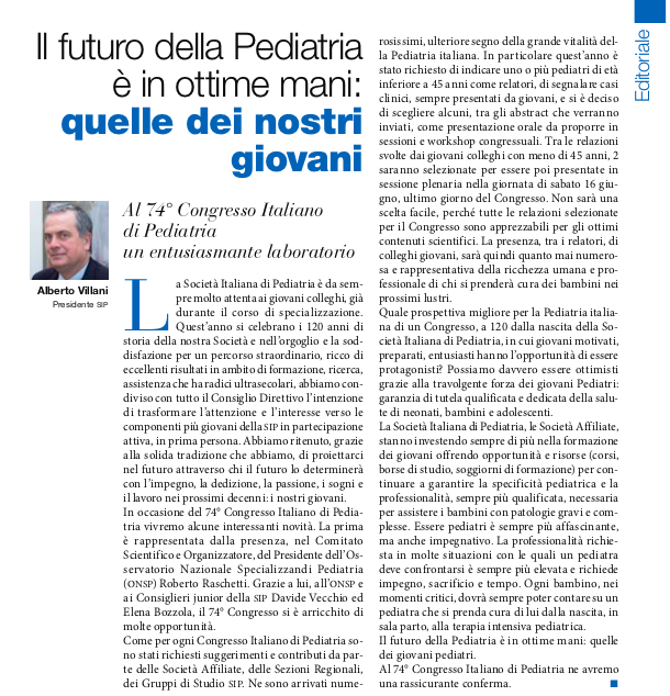 ONSP su Pediatria